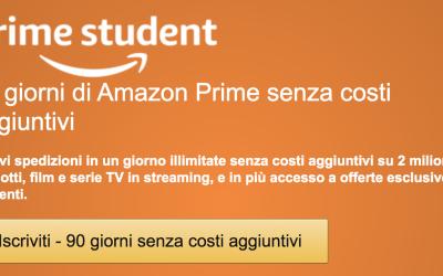 Amazon Prime Studend Gratis 3 mesi